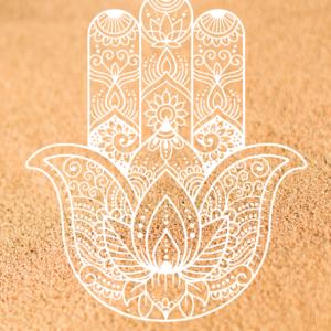 White Hamsa Hand - Sand