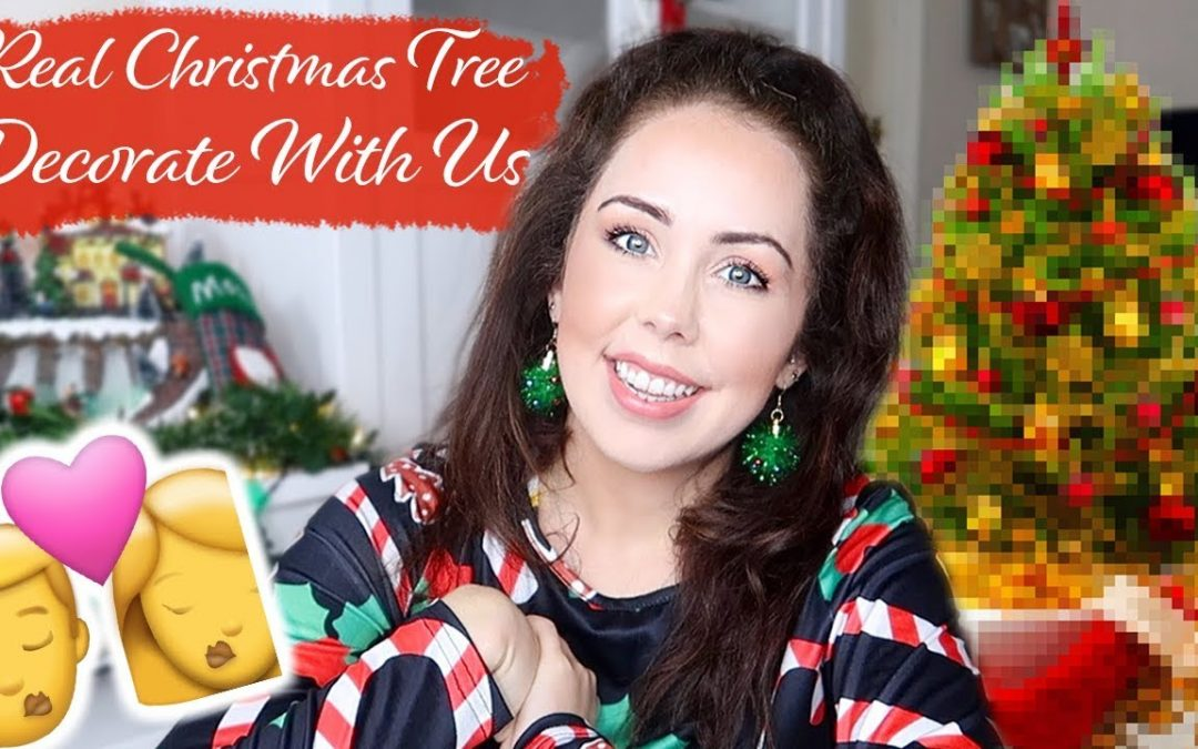 DECORATE OUR REAL CHRISTMAS TREE WITH US   Couples first Christmas together